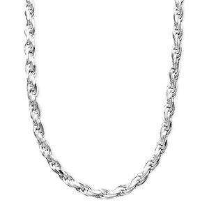 """Giani Bernini Sterling Silver Rope Necklace 18"""""""